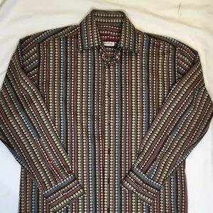 Visconti Black Button Down Shirt Size Small
